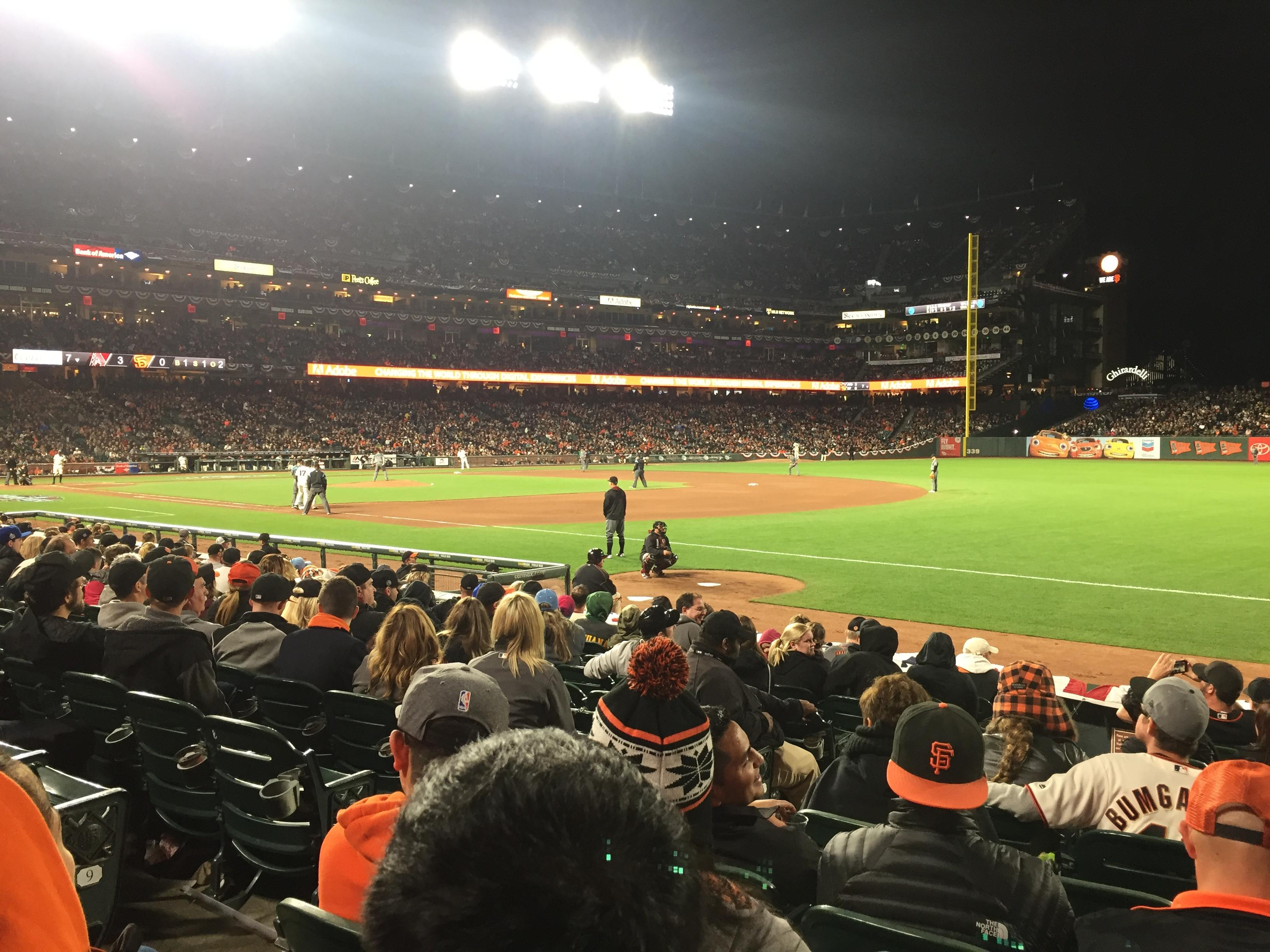 AT&T Park Section 103 Row 11 Seat 10