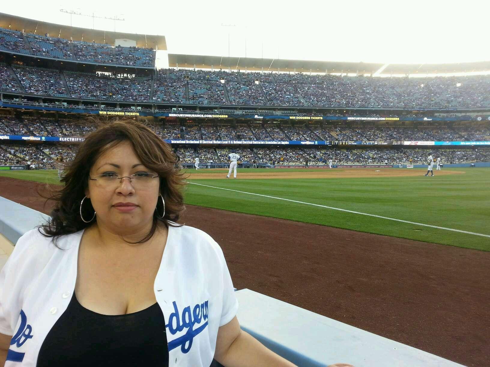 Dodger Stadium Section 38BL Row 1 Seat 1