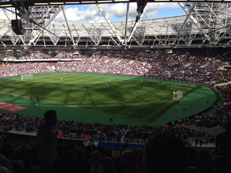 London Stadium Section 214 Row 63 Seat 255