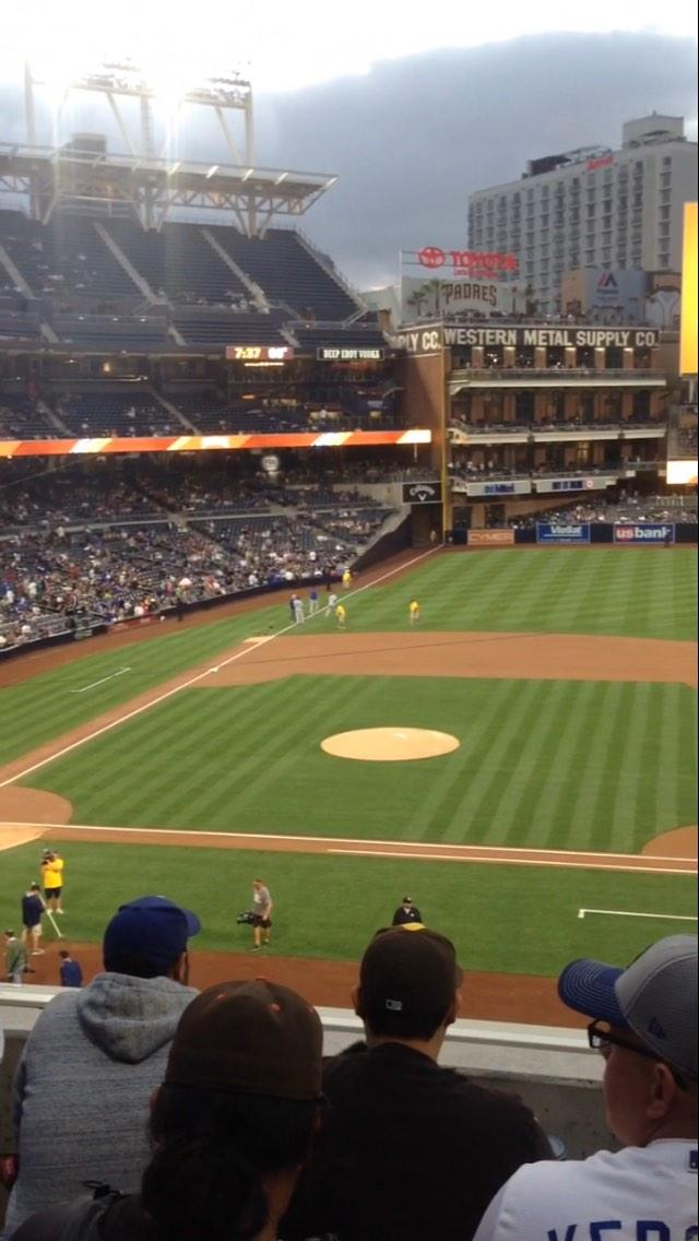 PETCO Park Section 207 Row 4 Seat 16