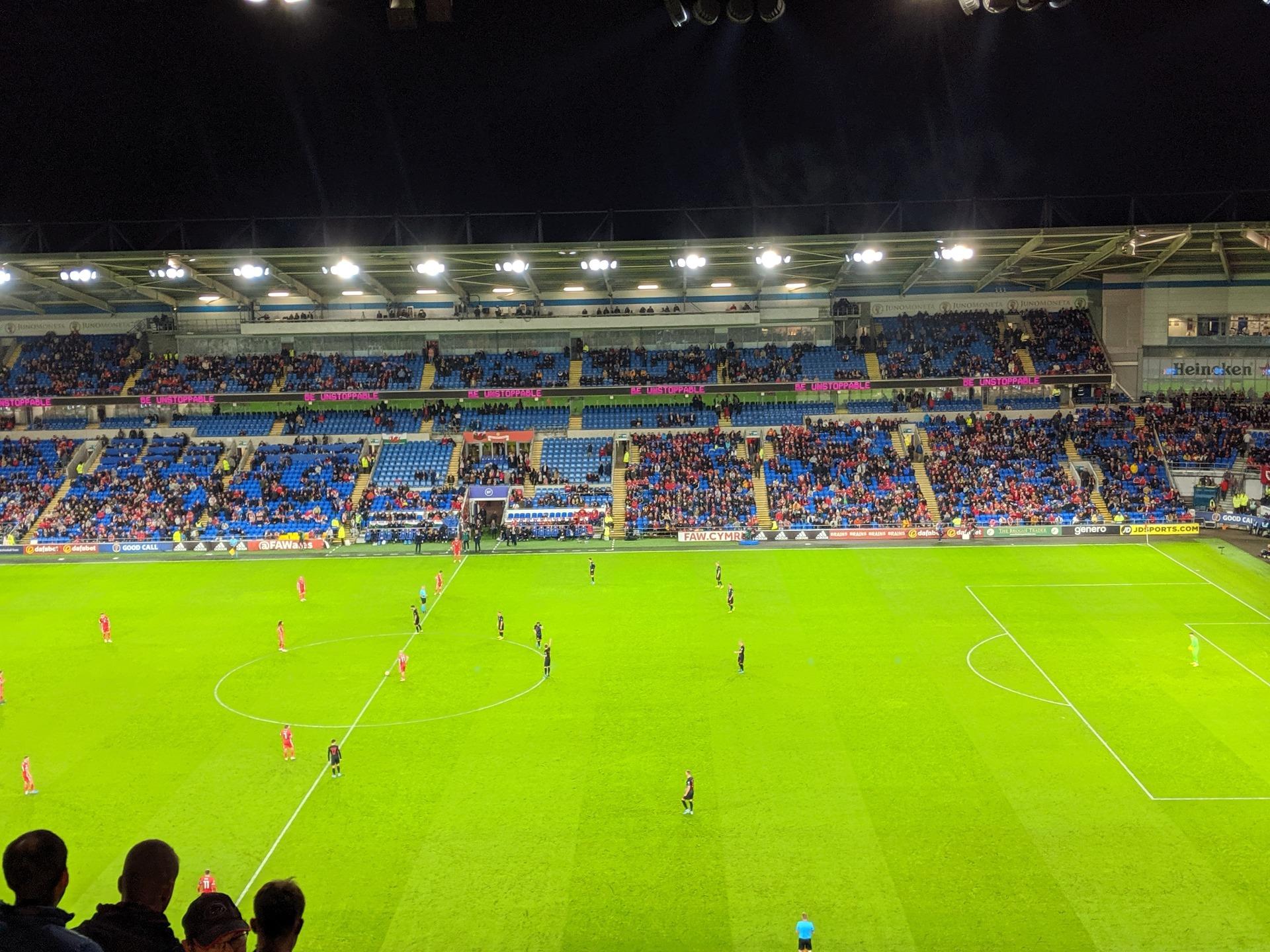 Cardiff City Stadium Section 513 Row N Seat 72