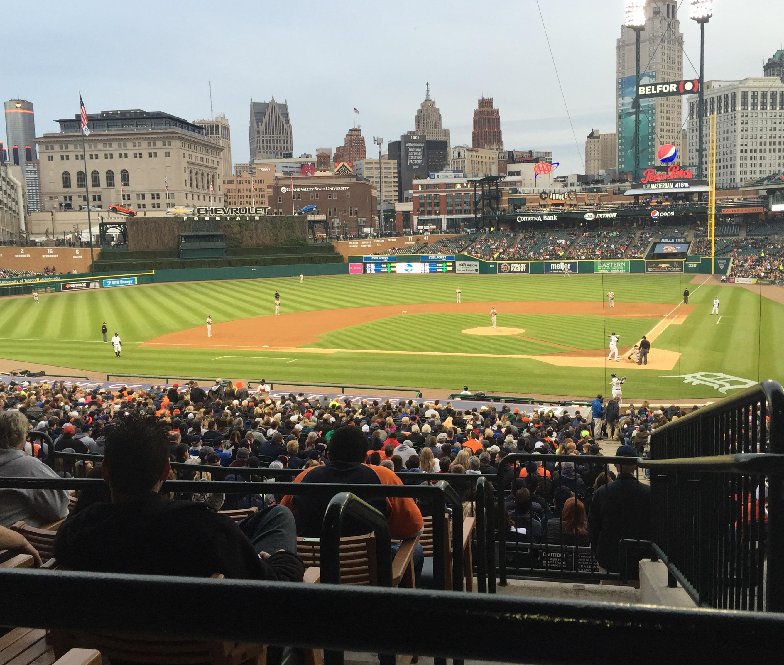 Comerica Park Section 131 Row D Seat 3