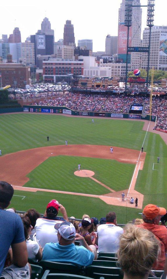 Comerica Park Section 331 Row 10 Seat 11