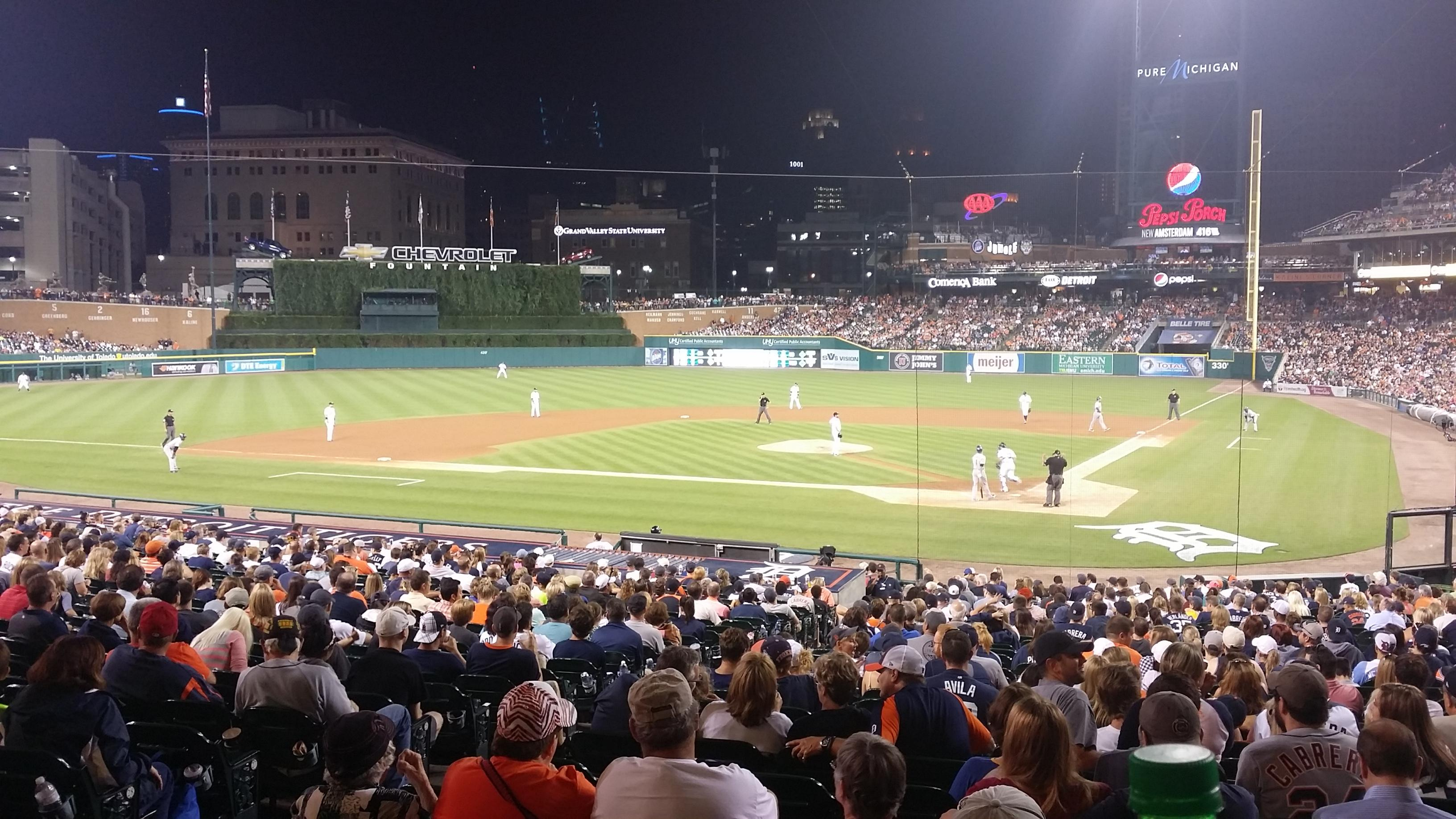 Seat View For Comerica Park Standing Room Only