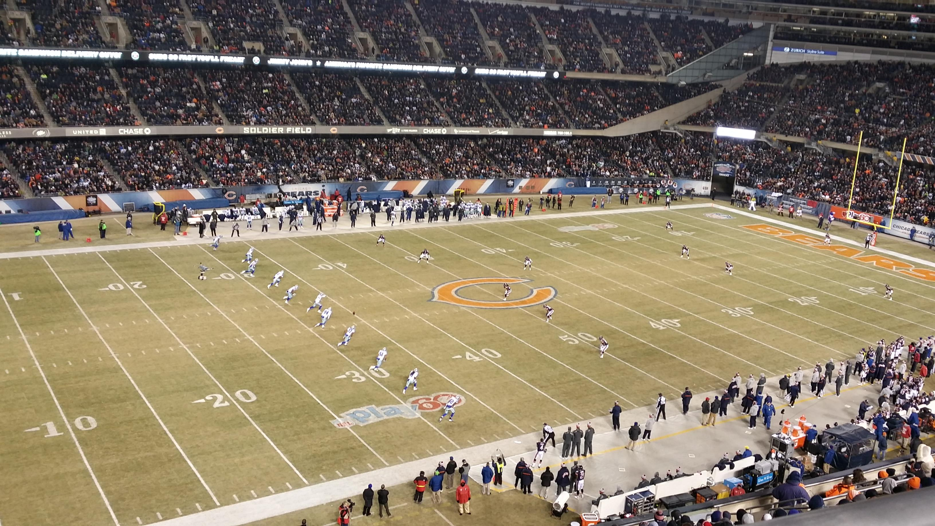 Soldier Field Section 441 Row 1 Seat 5