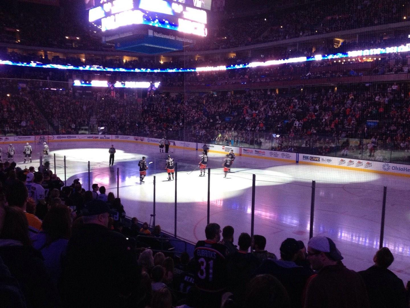 Nationwide Arena Section 101 Row M Seat 7