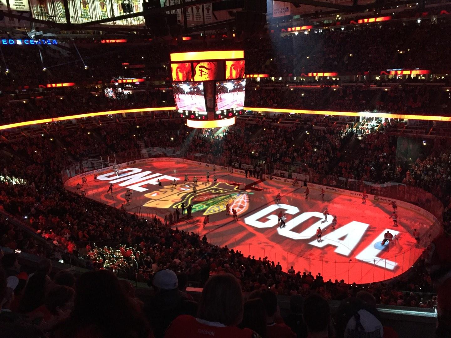 United Center Section 314 Row 6 Seat 1