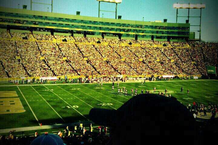 Lambeau Field Section 112 Row 45 Seat 23