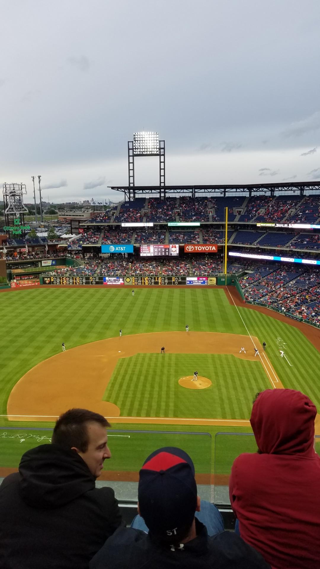 Citizens Bank Park Section 425 Row 3 Seat 20