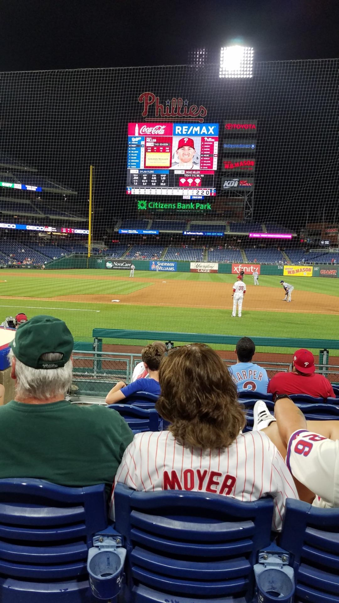 Citizens Bank Park Section 116 Row 6 Seat 18