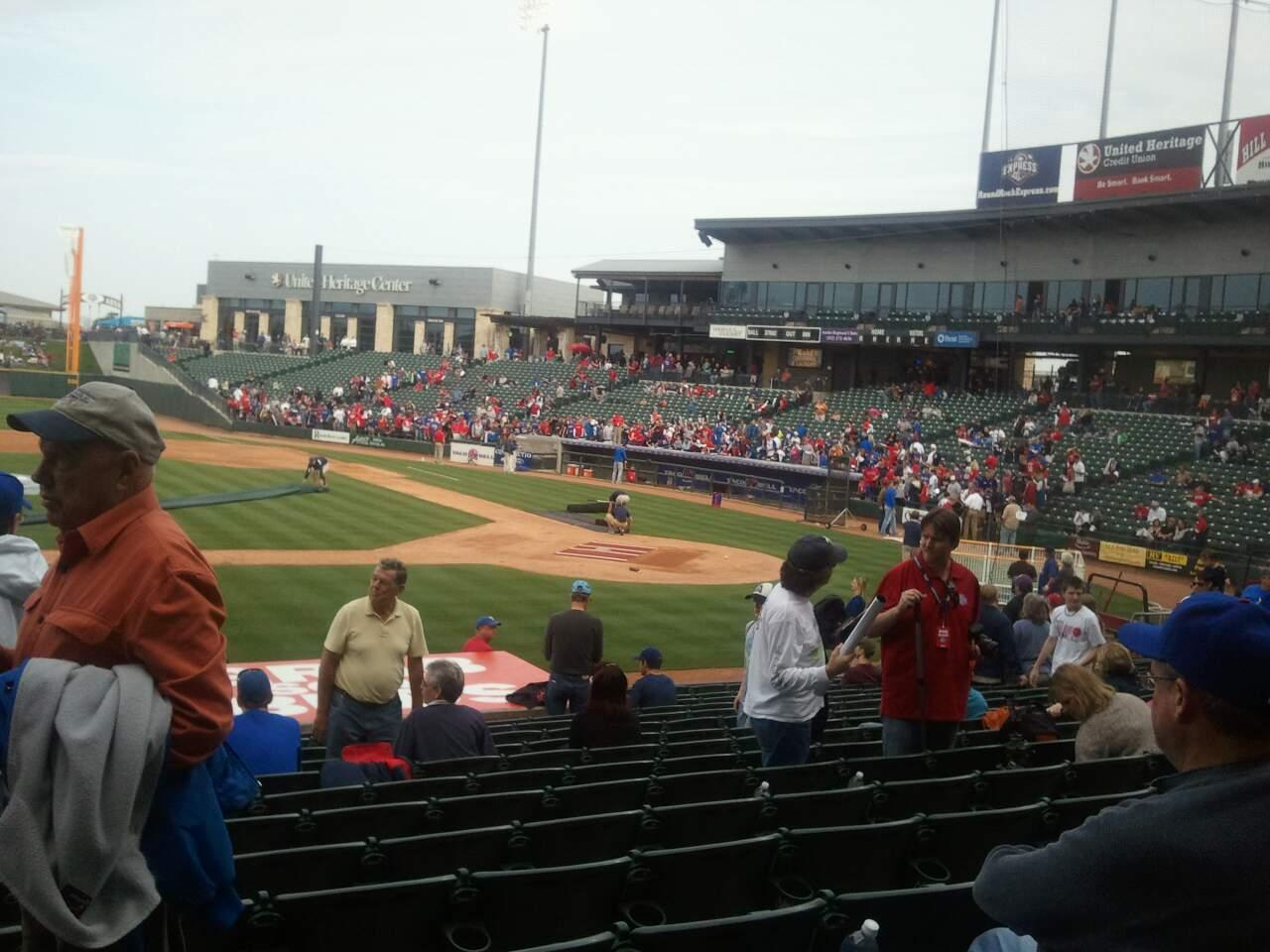 Dell Diamond Section 116 Row 16 Seat 3