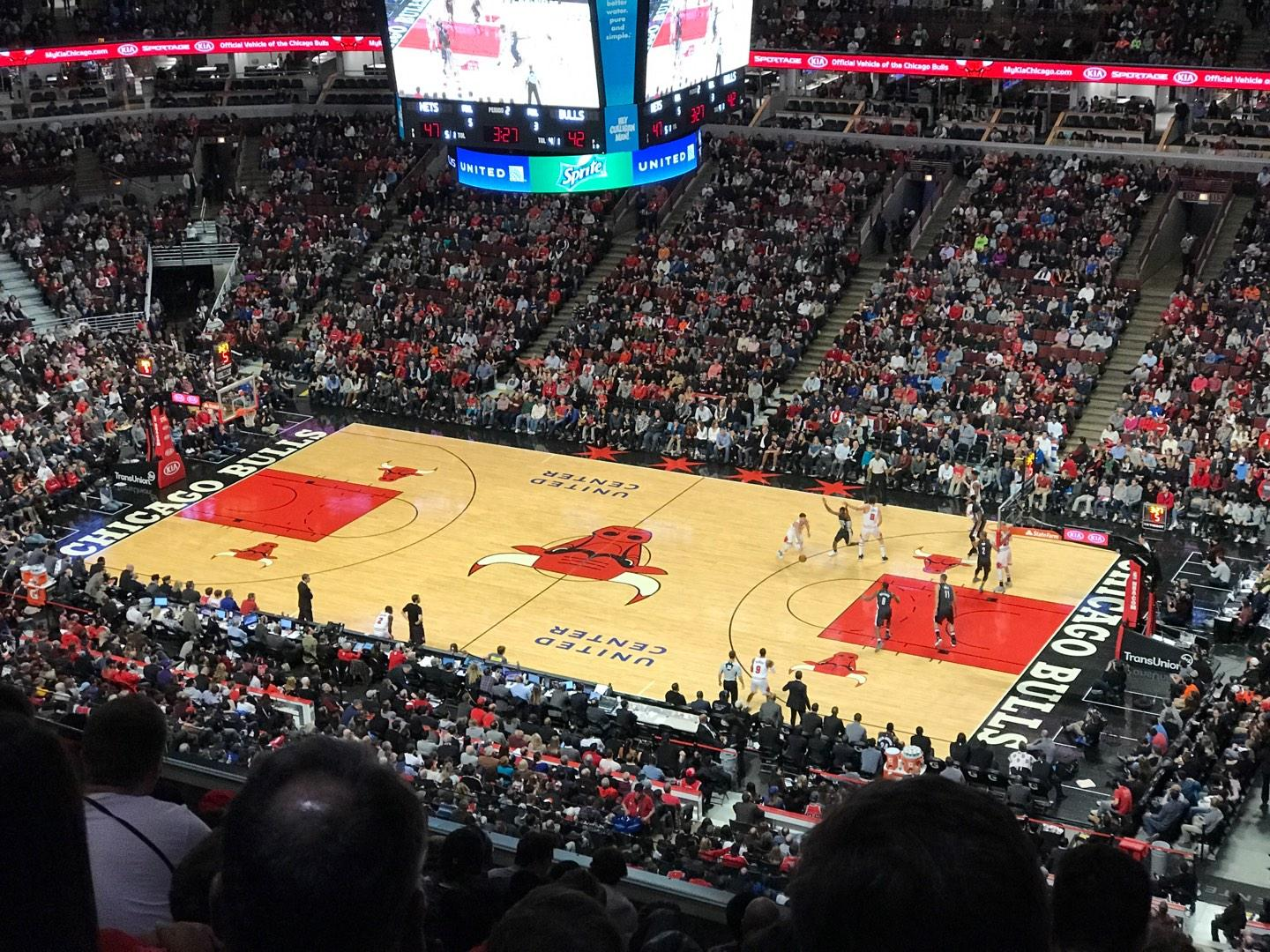 United Center Section 332 Row 12 Seat 7