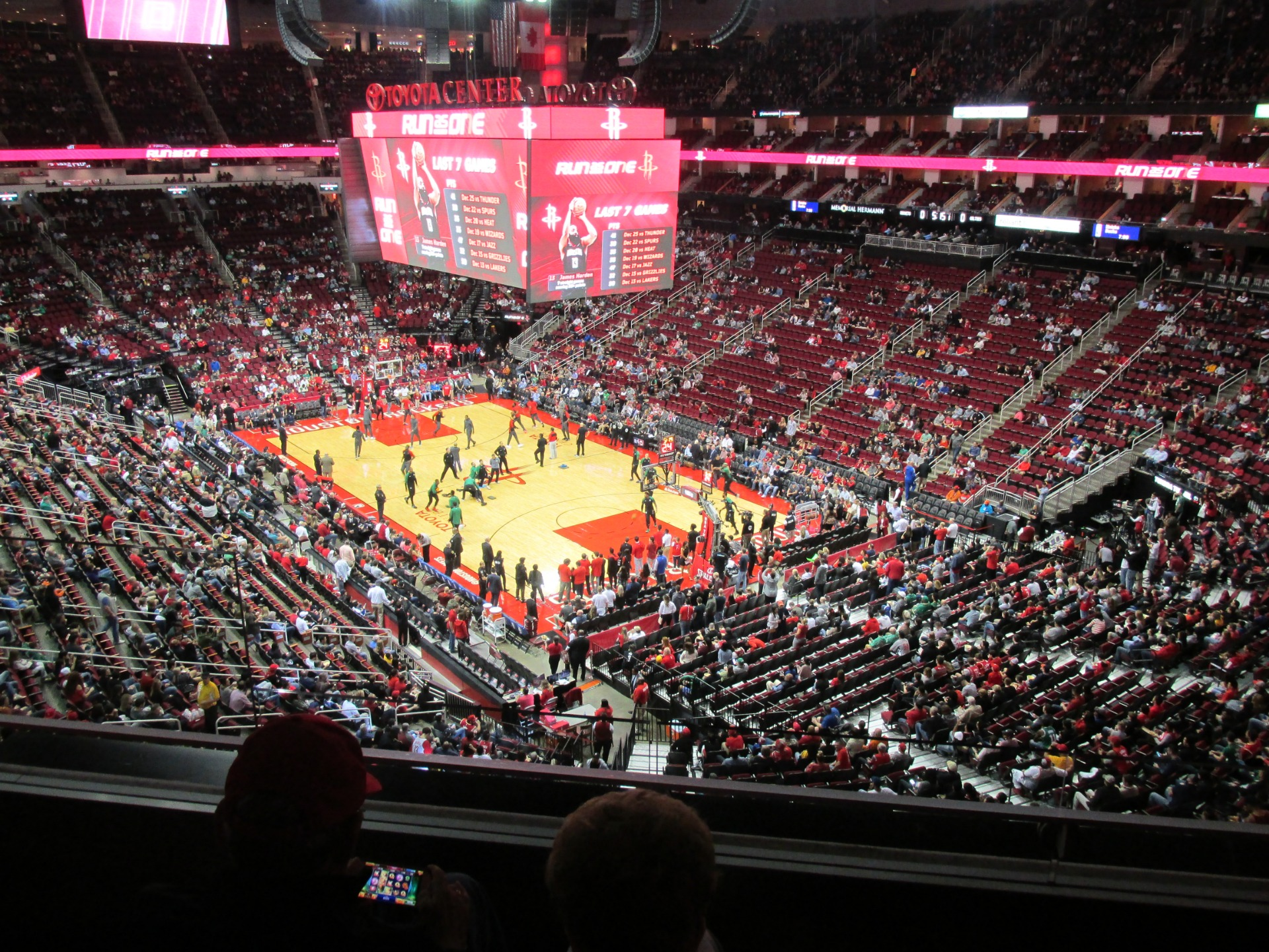 Toyota Center Section 421 Row 3 Seat 11