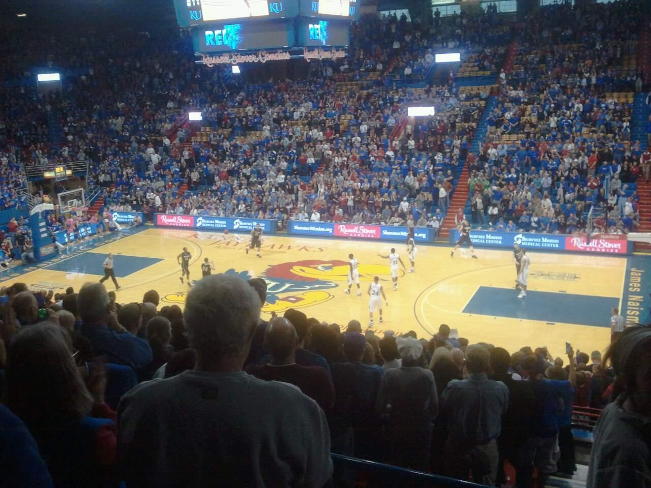 Allen Fieldhouse Section 15 Row 15 Seat 20