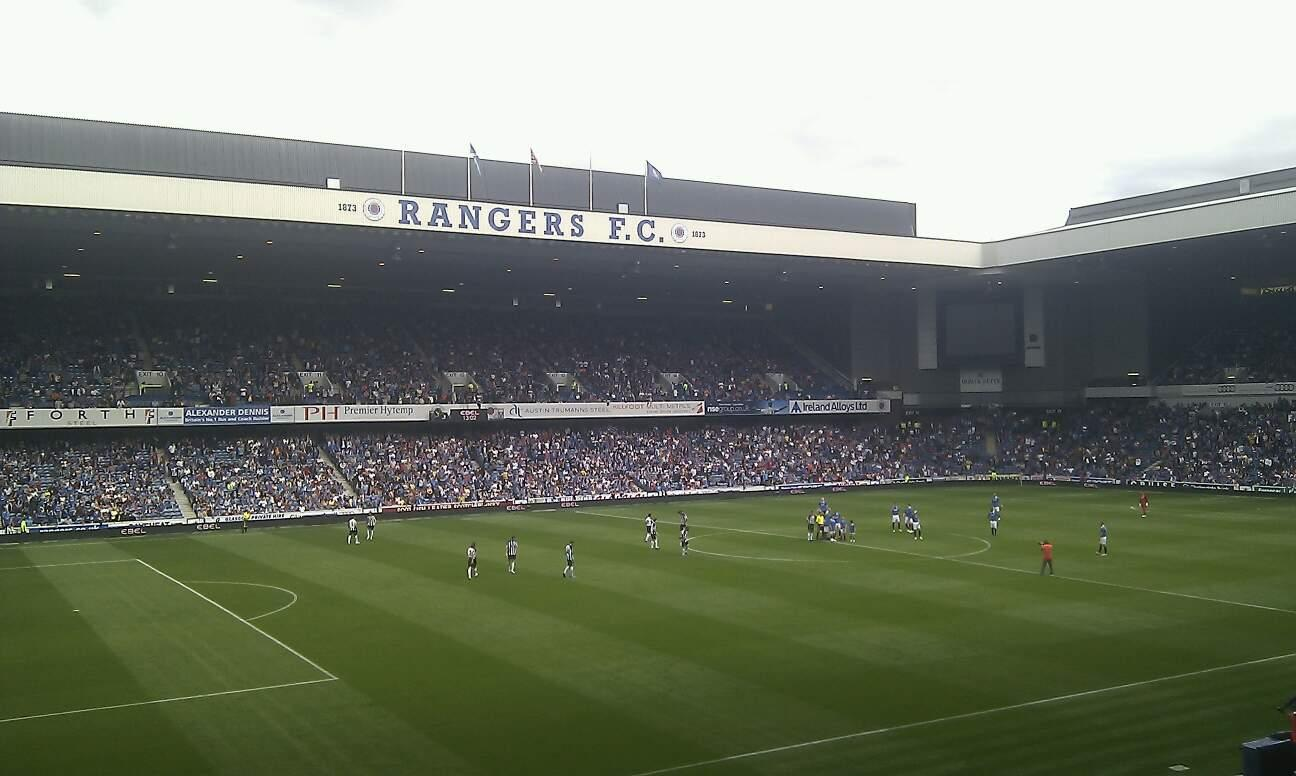 Ibrox Park Section MRS Row C