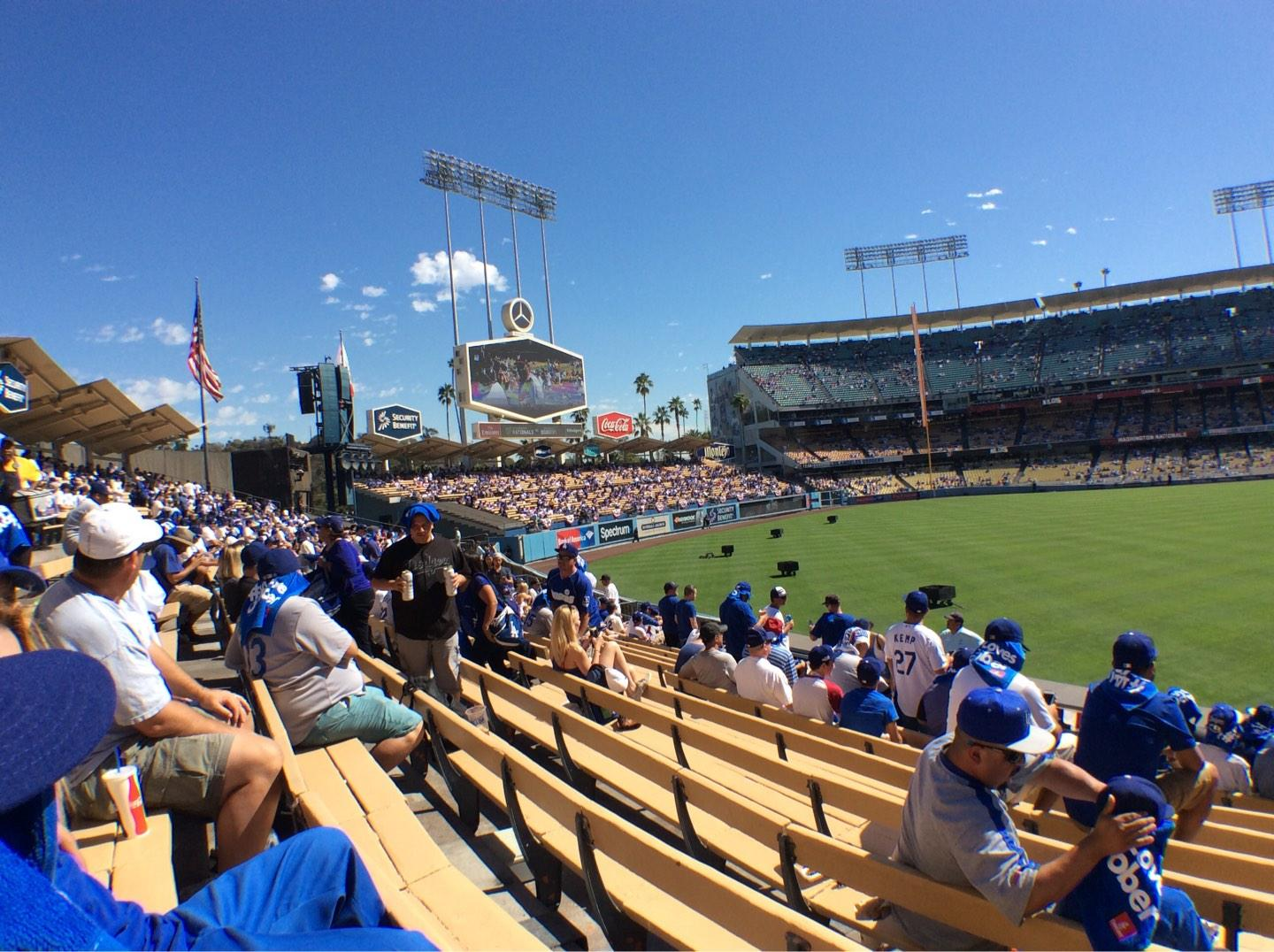 Dodger Stadium Section 303PL Row L Seat 4