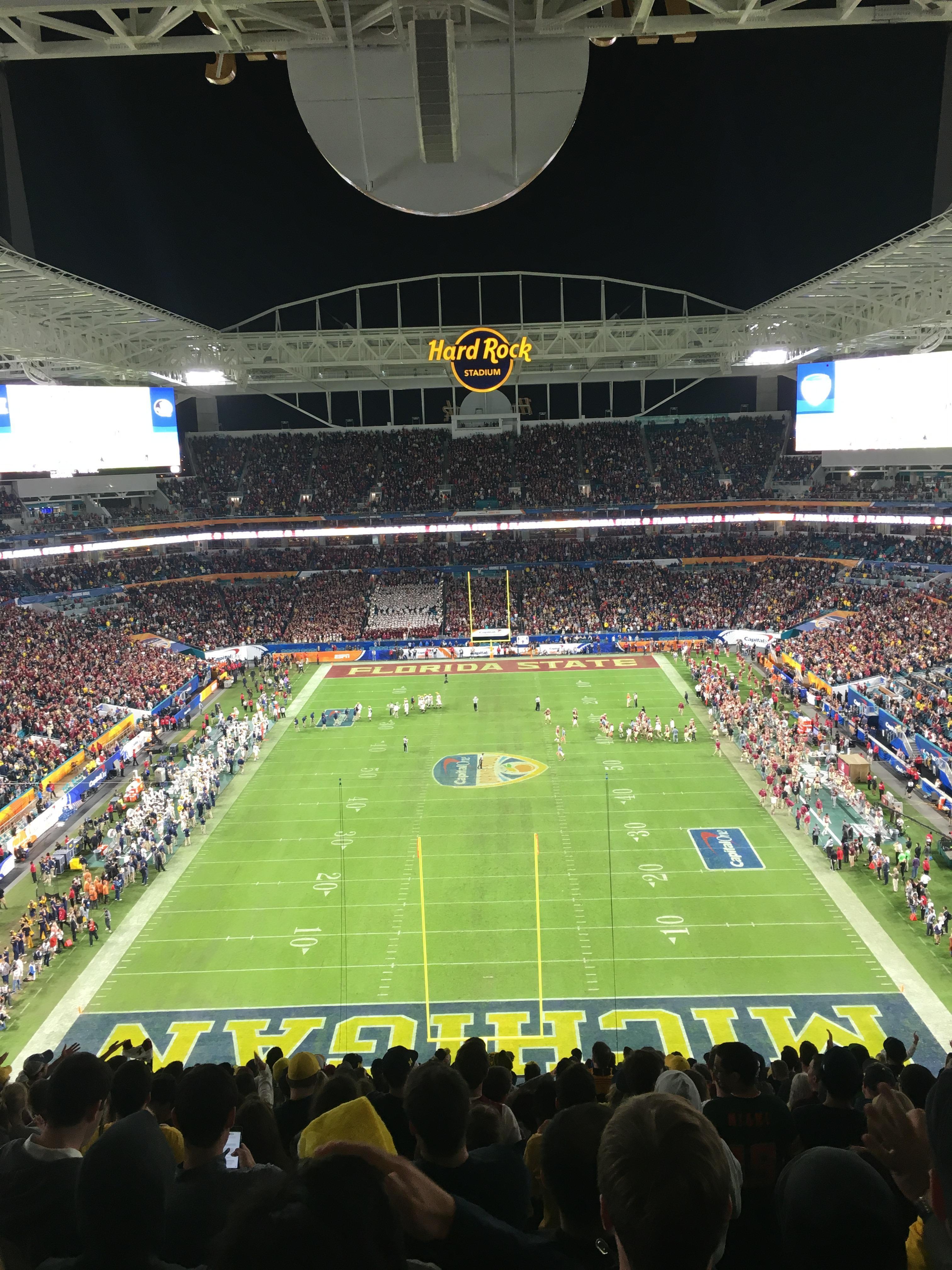 Hard Rock Stadium Section 304 Row 24 Seat 10