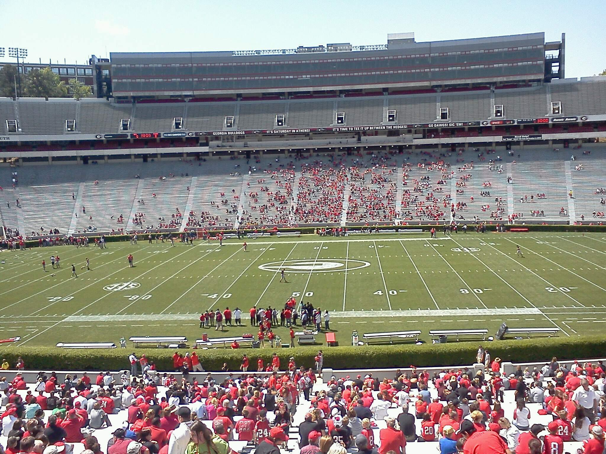 Sanford Stadium Section 106 Row 15