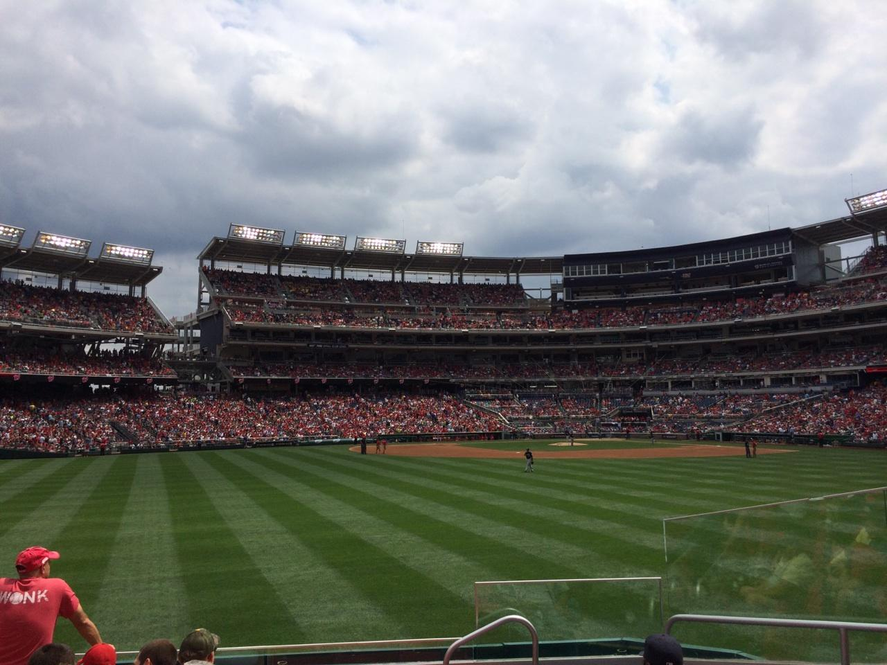Nationals Park Section 100 Row G Seat 8