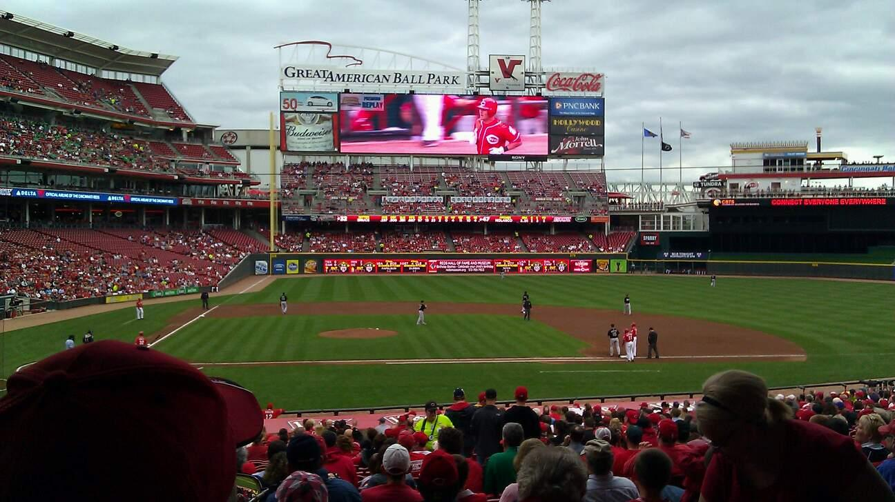 Great American Ball Park Section 128 Row JJ Seat 5
