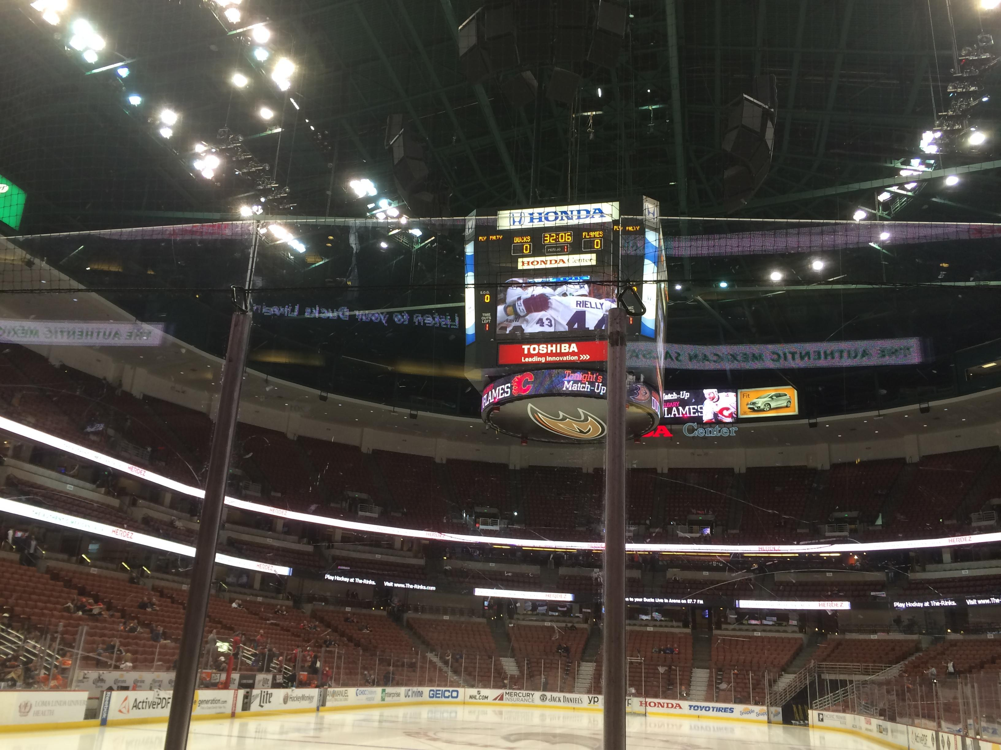 Honda Center Section 228 Row B Seat 2