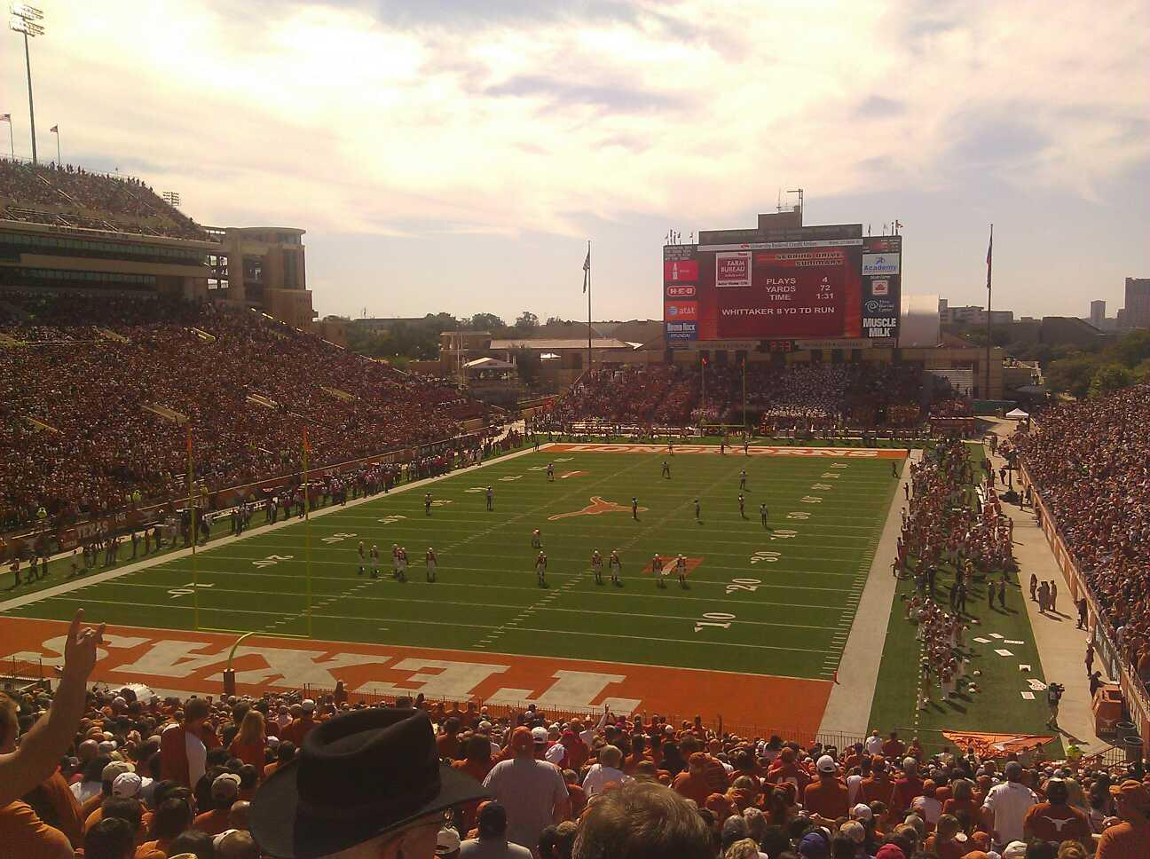 Texas Memorial Stadium Section 15 Row 52 Seat 1