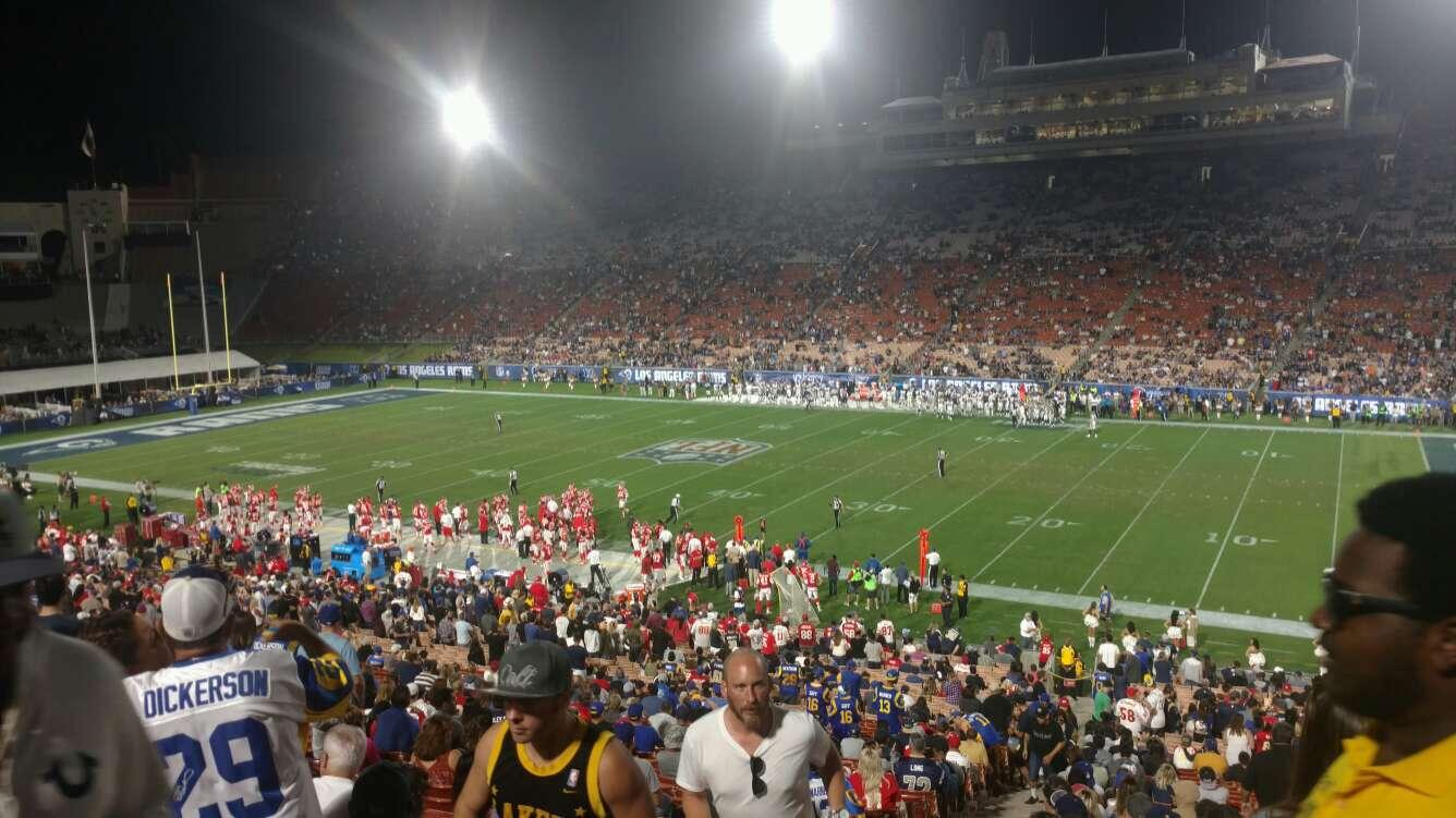 Los Angeles Memorial Coliseum Section 20H Row 45 Seat 101