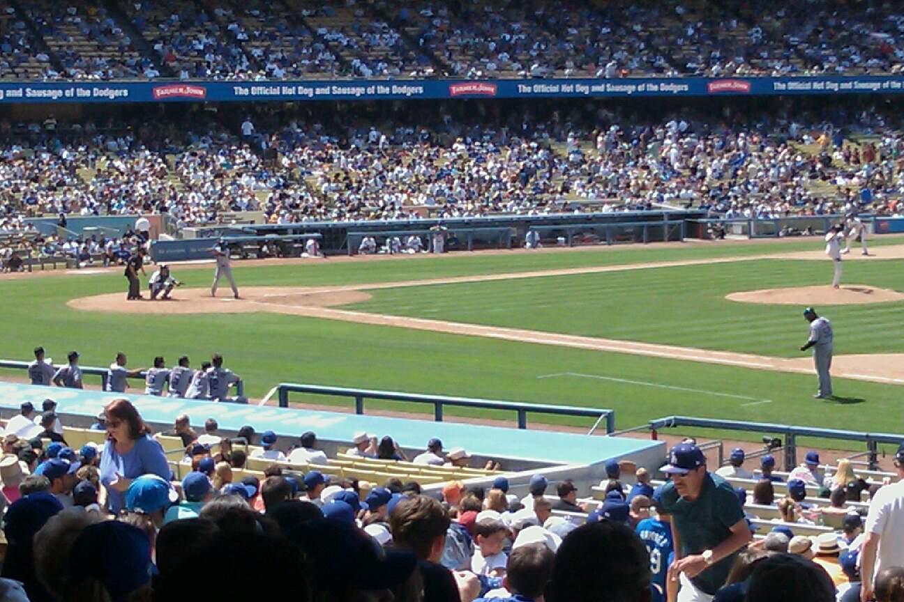 Dodger Stadium Section 28FD Row K Seat 4