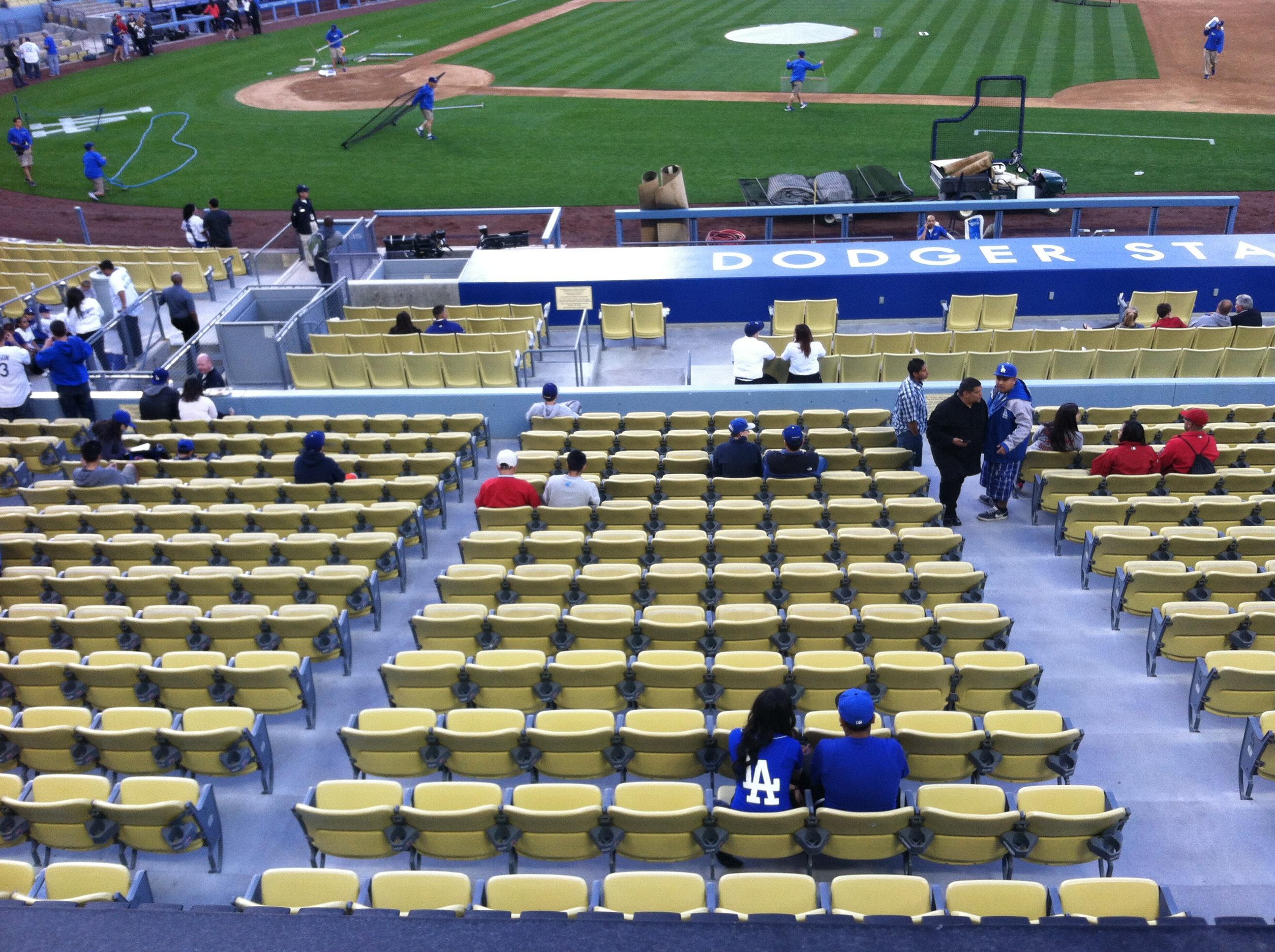Dodger Stadium Section 132LG Row A Seat 1