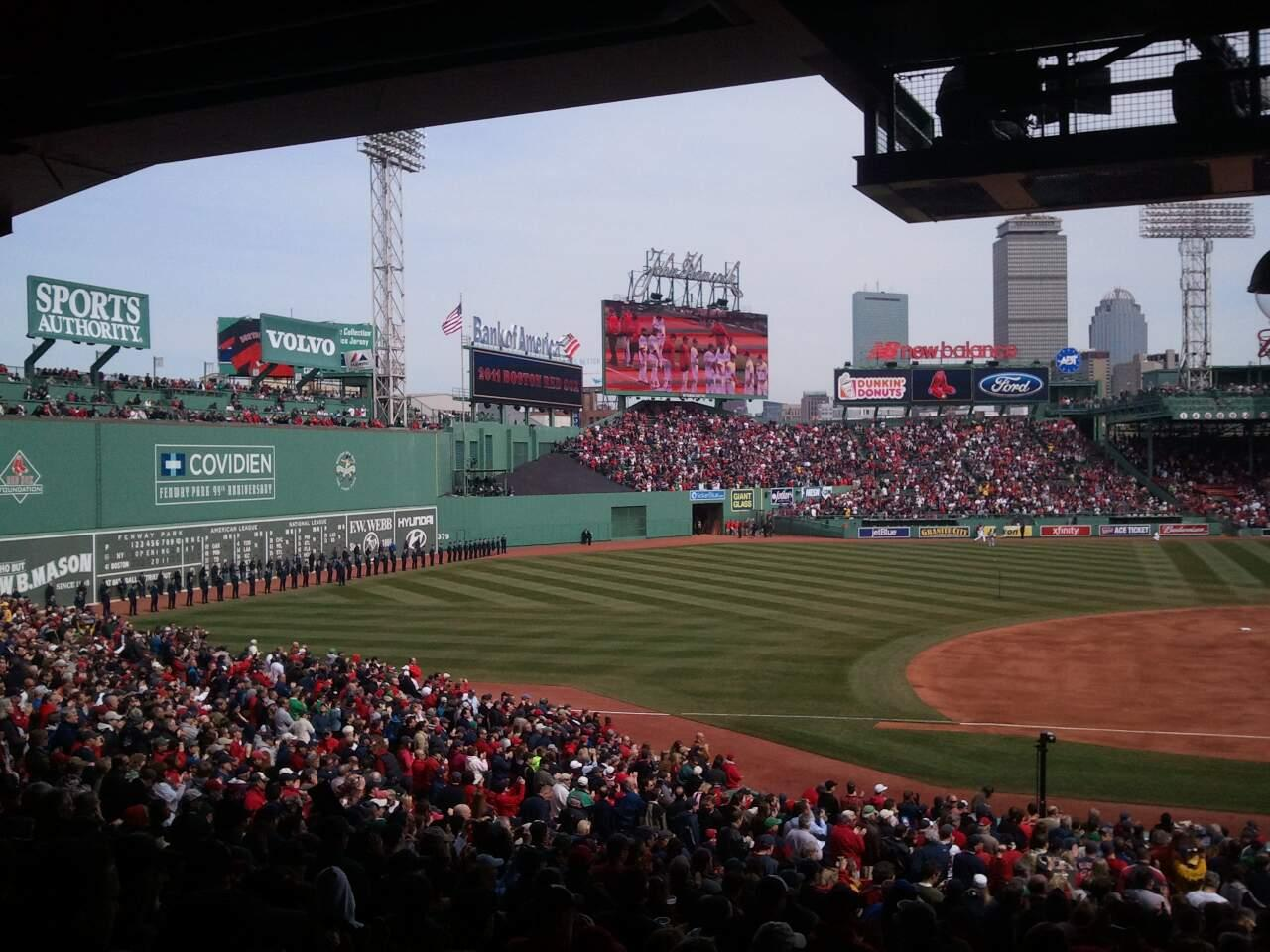 Fenway Park Section Grandstand 27 Row 10 Seat 5