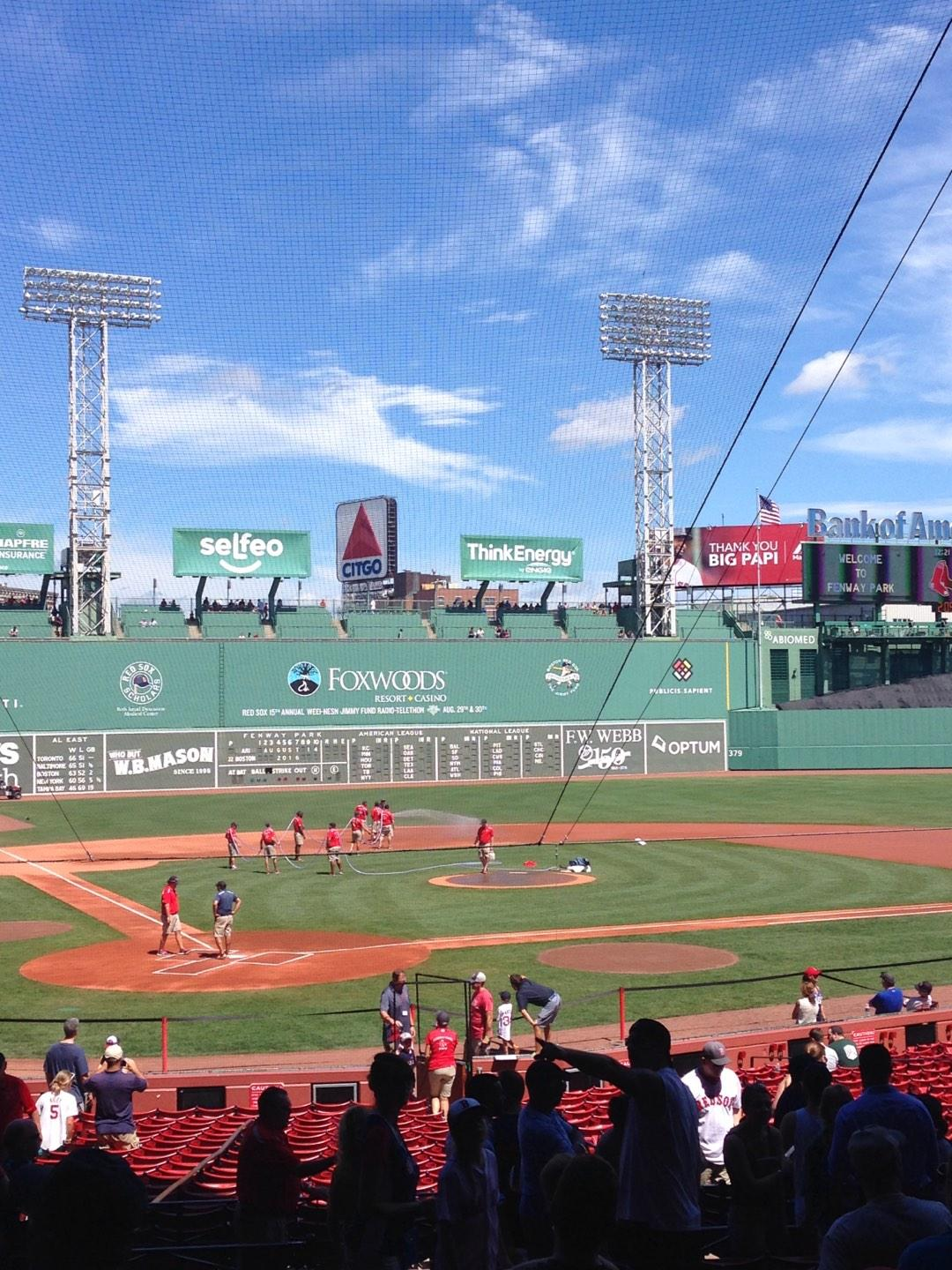 Fenway Park Section Loge Box 125 Row Y Seat 12