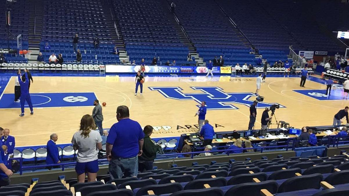 Rupp Arena Section 15 Row J Seat 13, 14