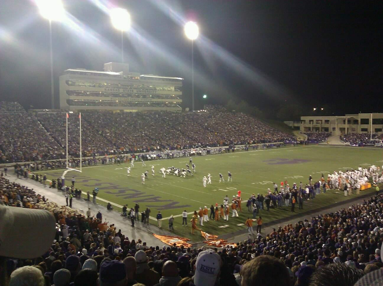 Bill Snyder Family Stadium Section 19 Row 35 Seat 23