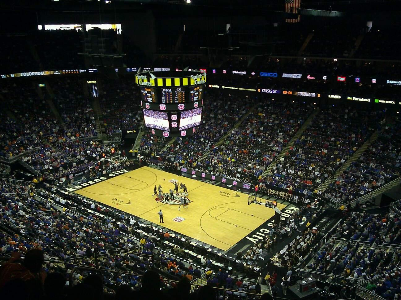 Sprint Center Section 221 Row 8 Seat 6