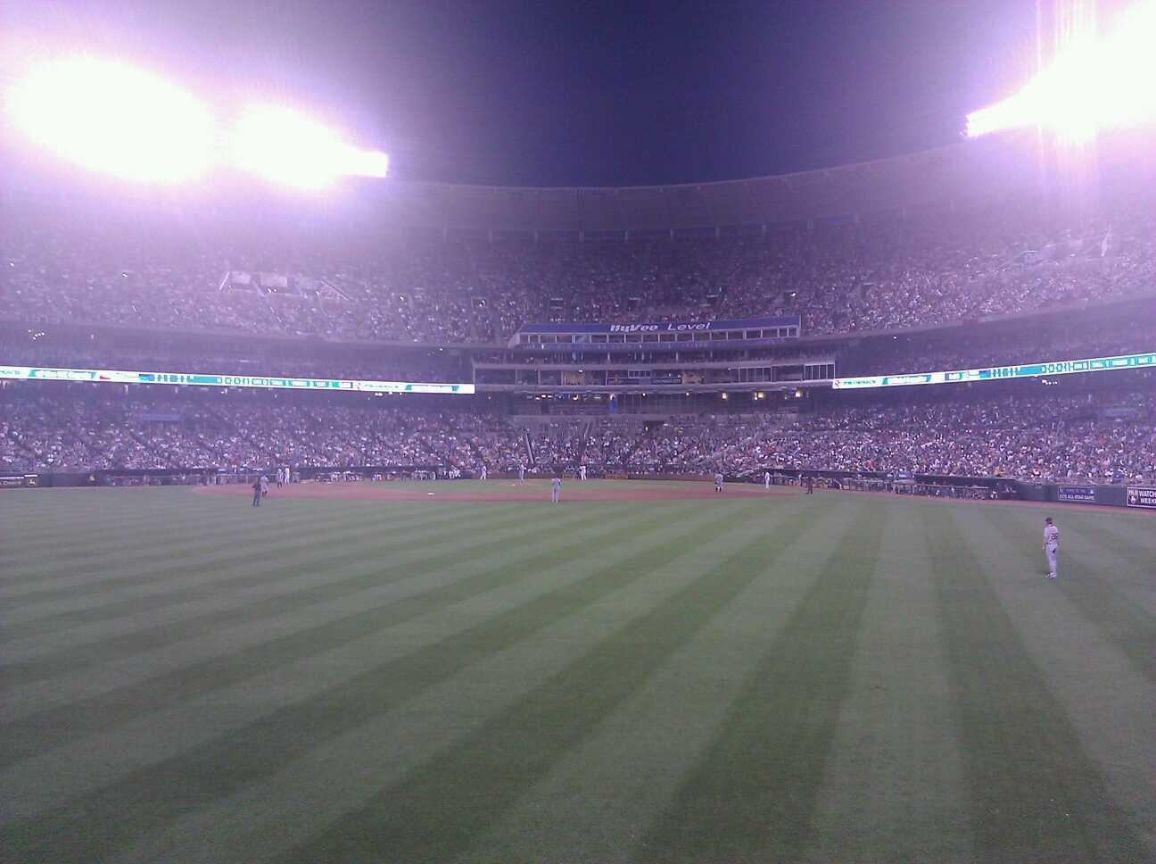 Kauffman Stadium Section 102 Row c Seat 19