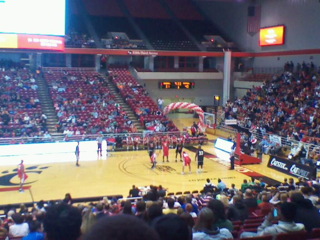 Fifth Third Arena Section 105 Row 25 Seat 8