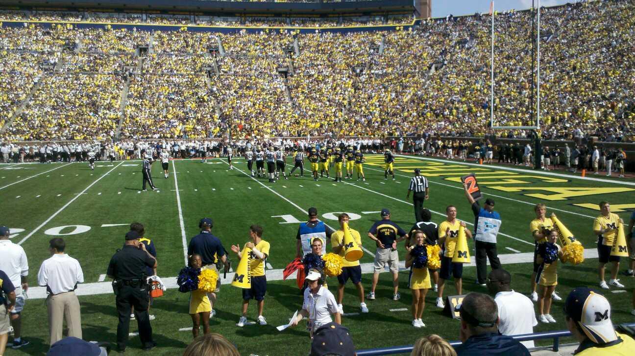 Michigan Stadium Section 21 Row 3 Seat 22