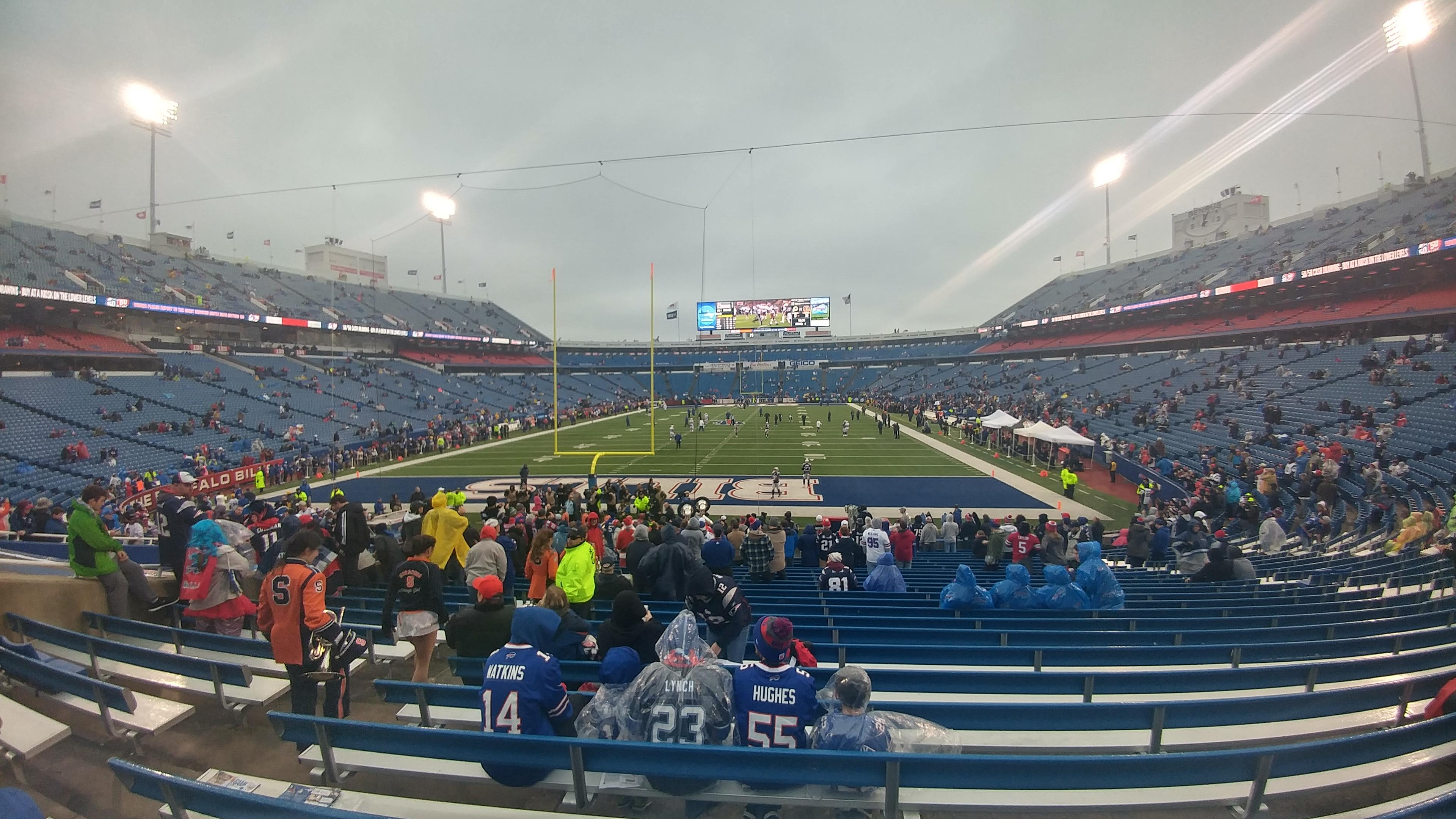 New Era Field Section 121 Row 26 Seat 20, 21