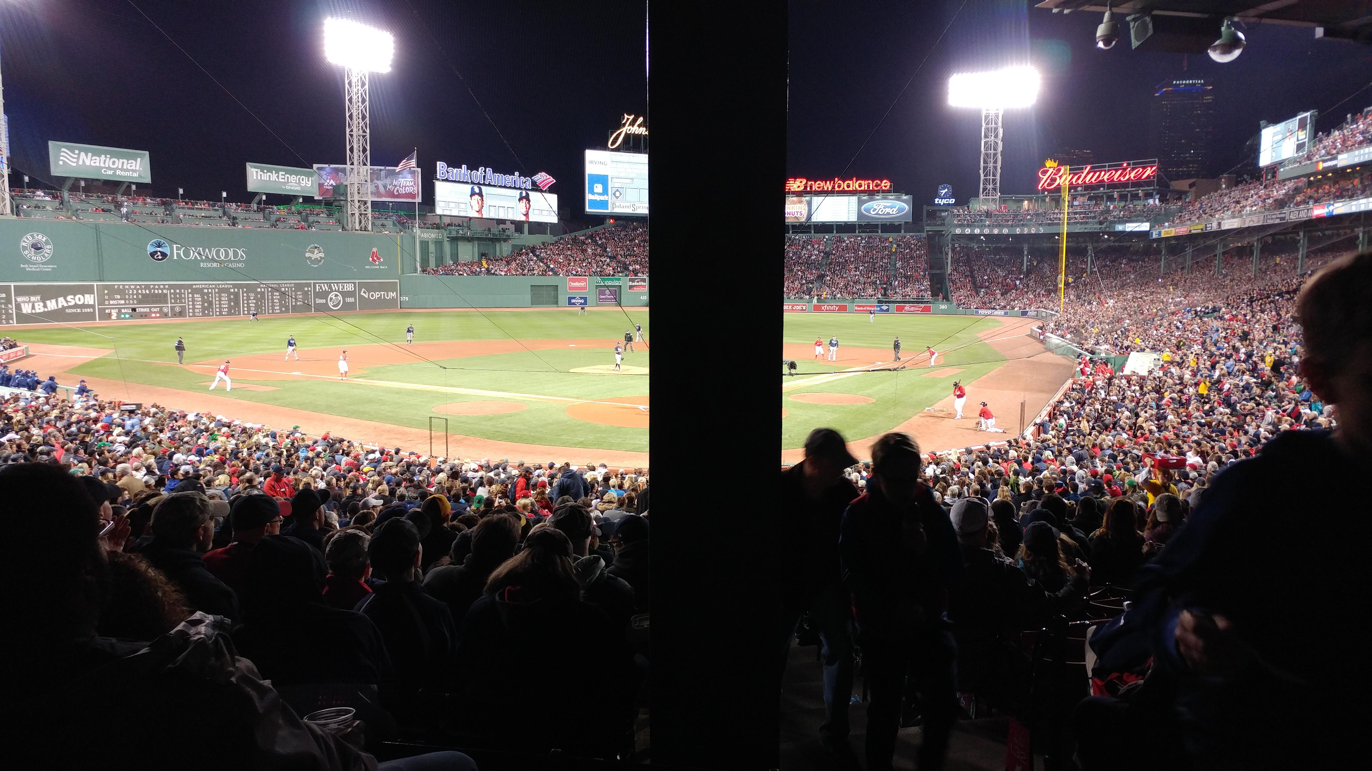 Fenway Park Section Grandstand 22 Row 5 Seat 1