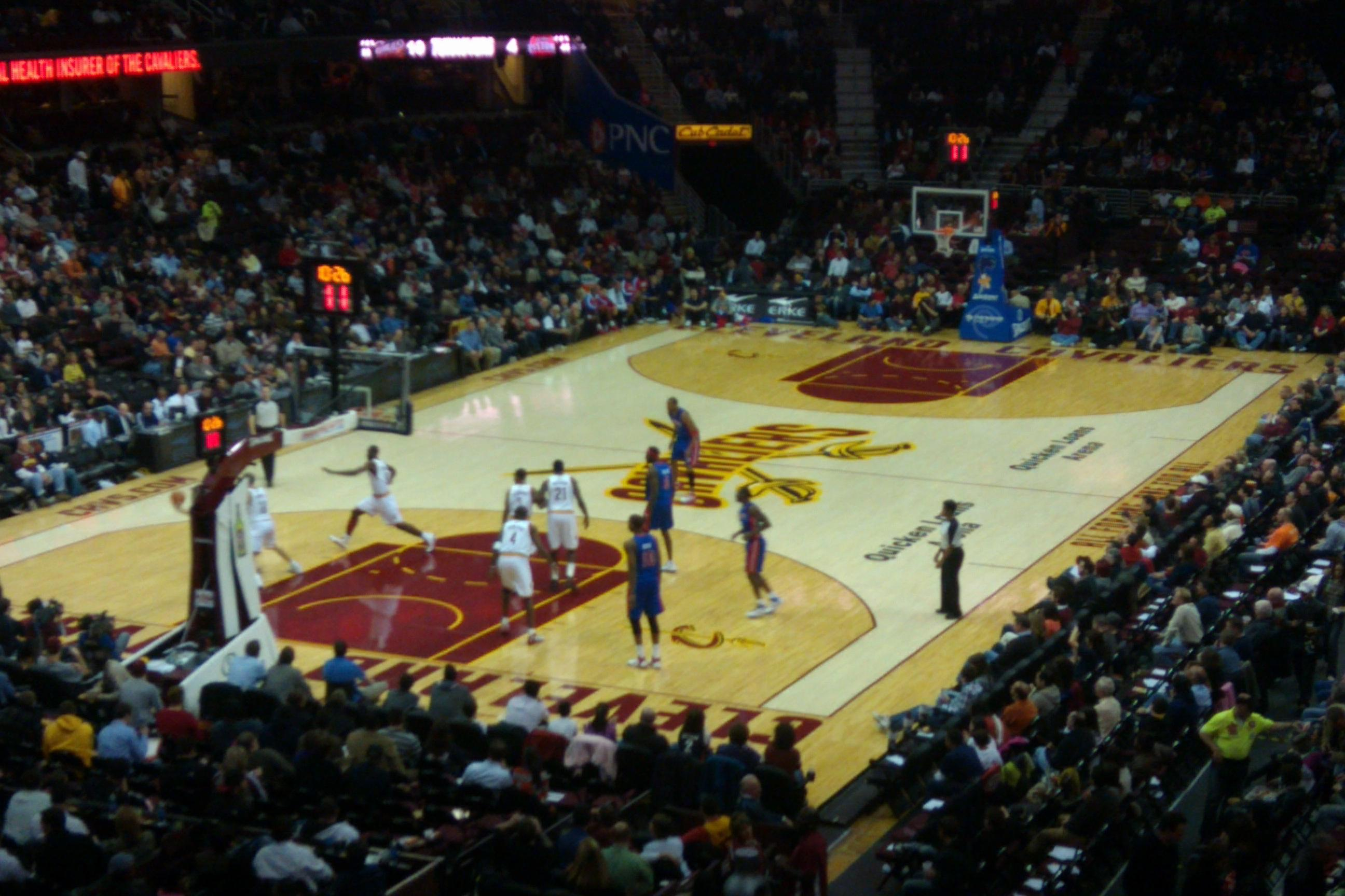 Quicken Loans Arena Section 103 Cleveland Cavaliers