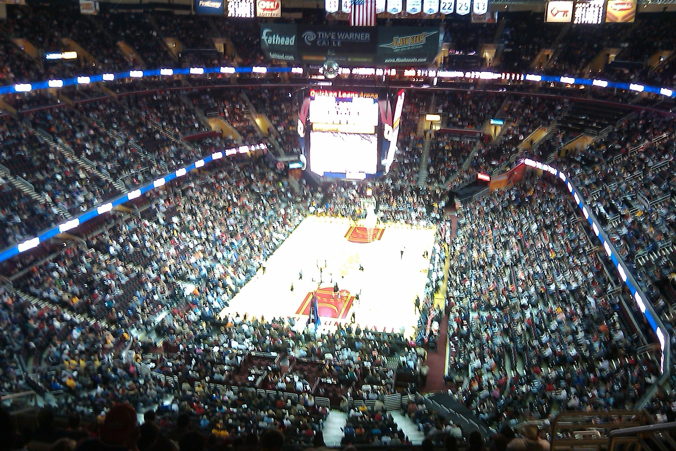 Seating view for Quicken Loans Arena Section 218 Row 12 Seat 17