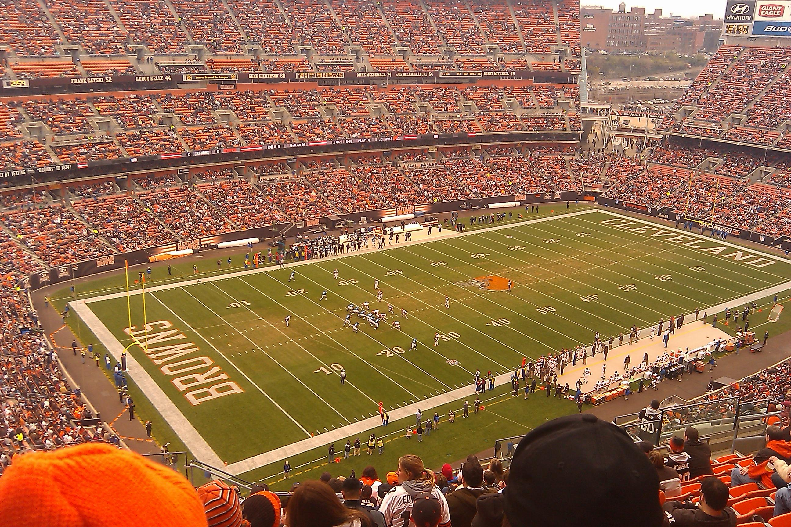 Firstenergy stadium section 528 row 22 seat 3 cleveland browns vs jacksonville jaguars