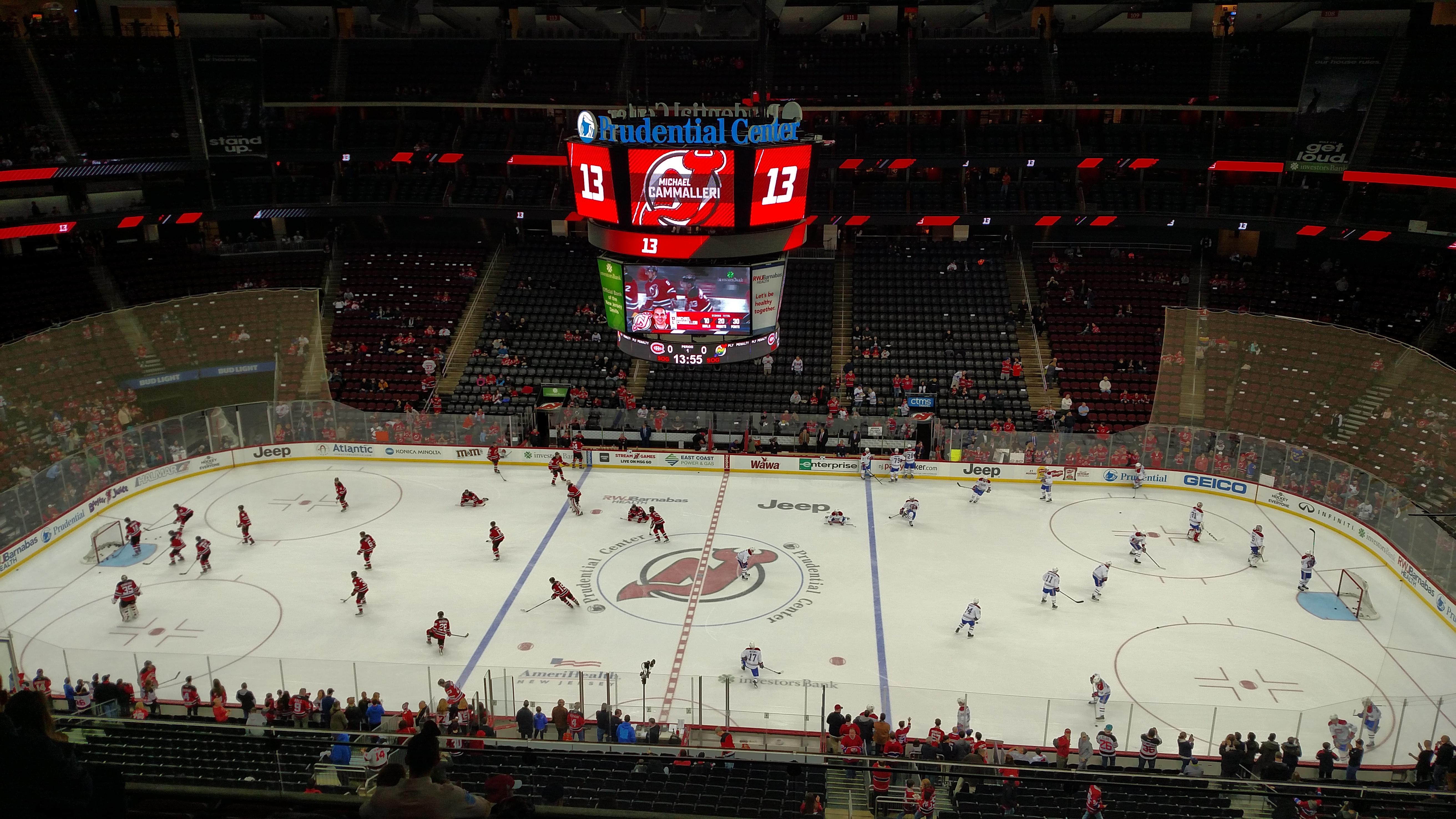 Prudential Center Section 129 Row 7 Seat 8
