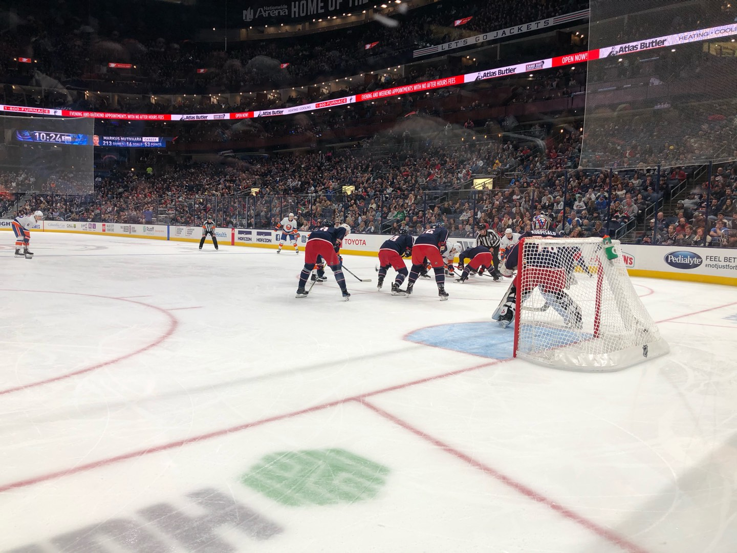 Nationwide Arena Section 121 Row A Seat 5