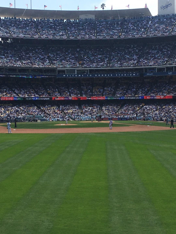 Dodger Stadium Section 307PL Row D Seat 7