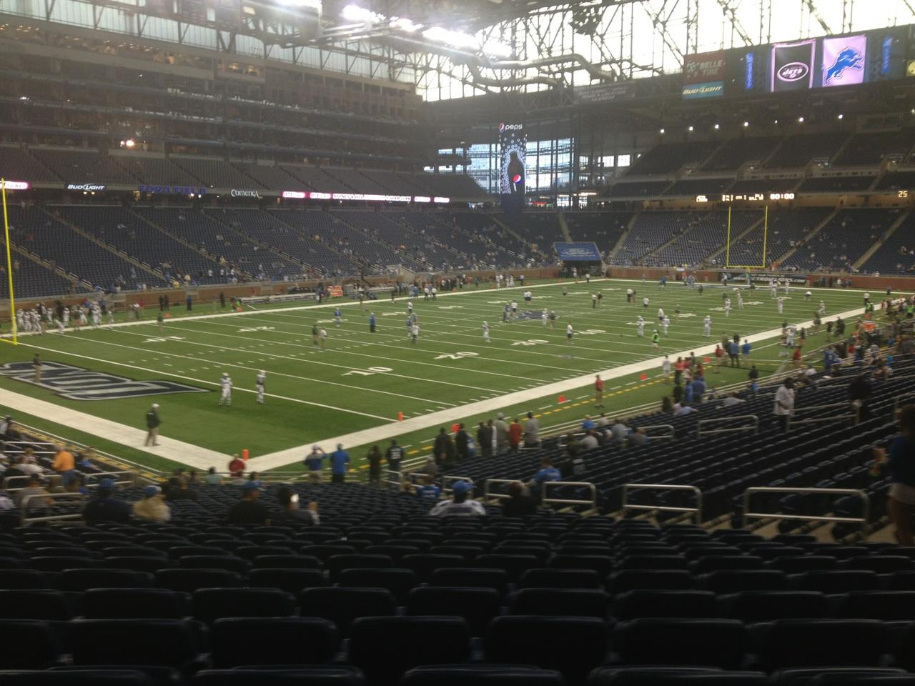 Ford Field Section 121 Row 31 Seat 10