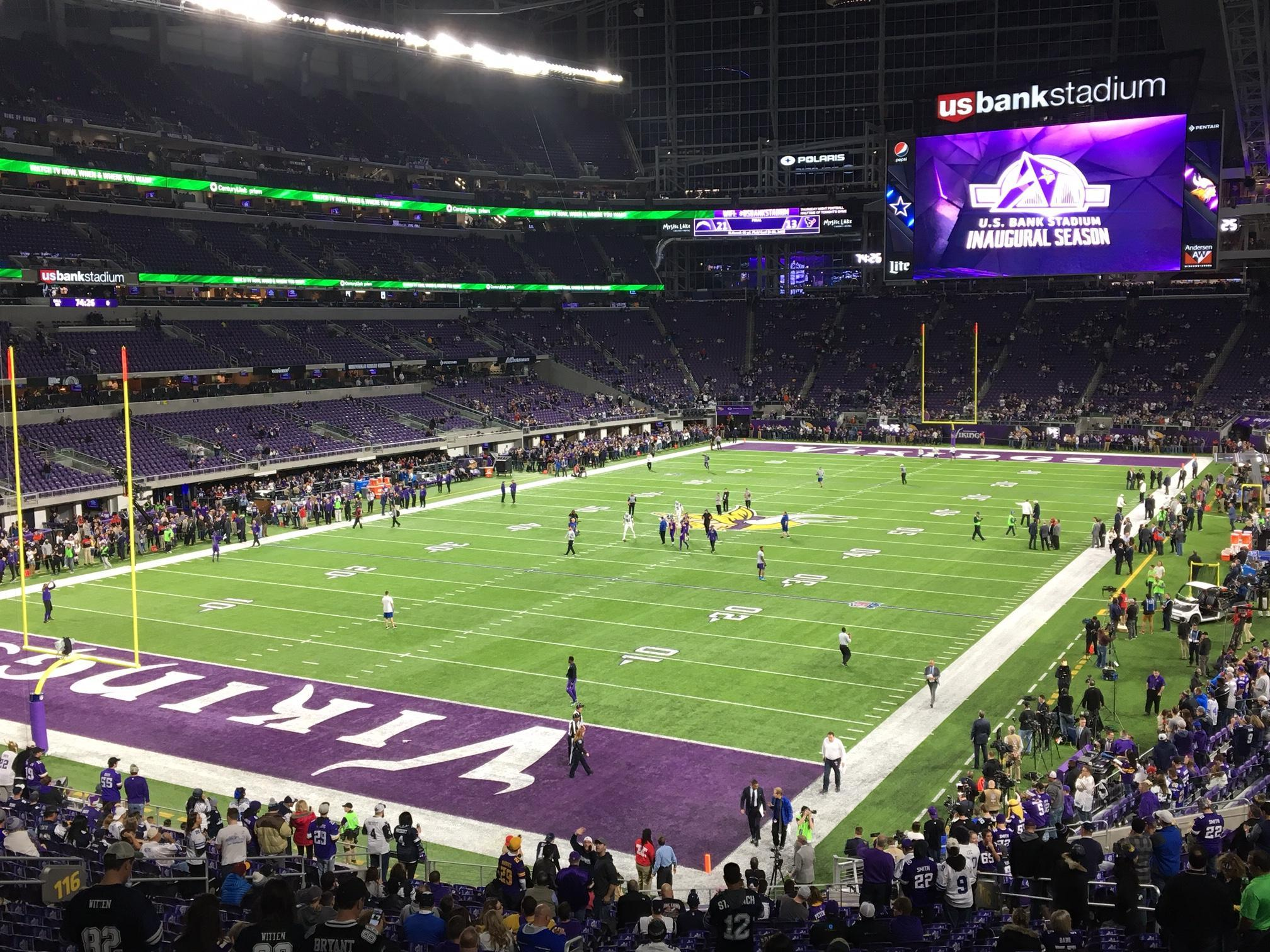 U.S. Bank Stadium Section 116 Row 31 Seat 25