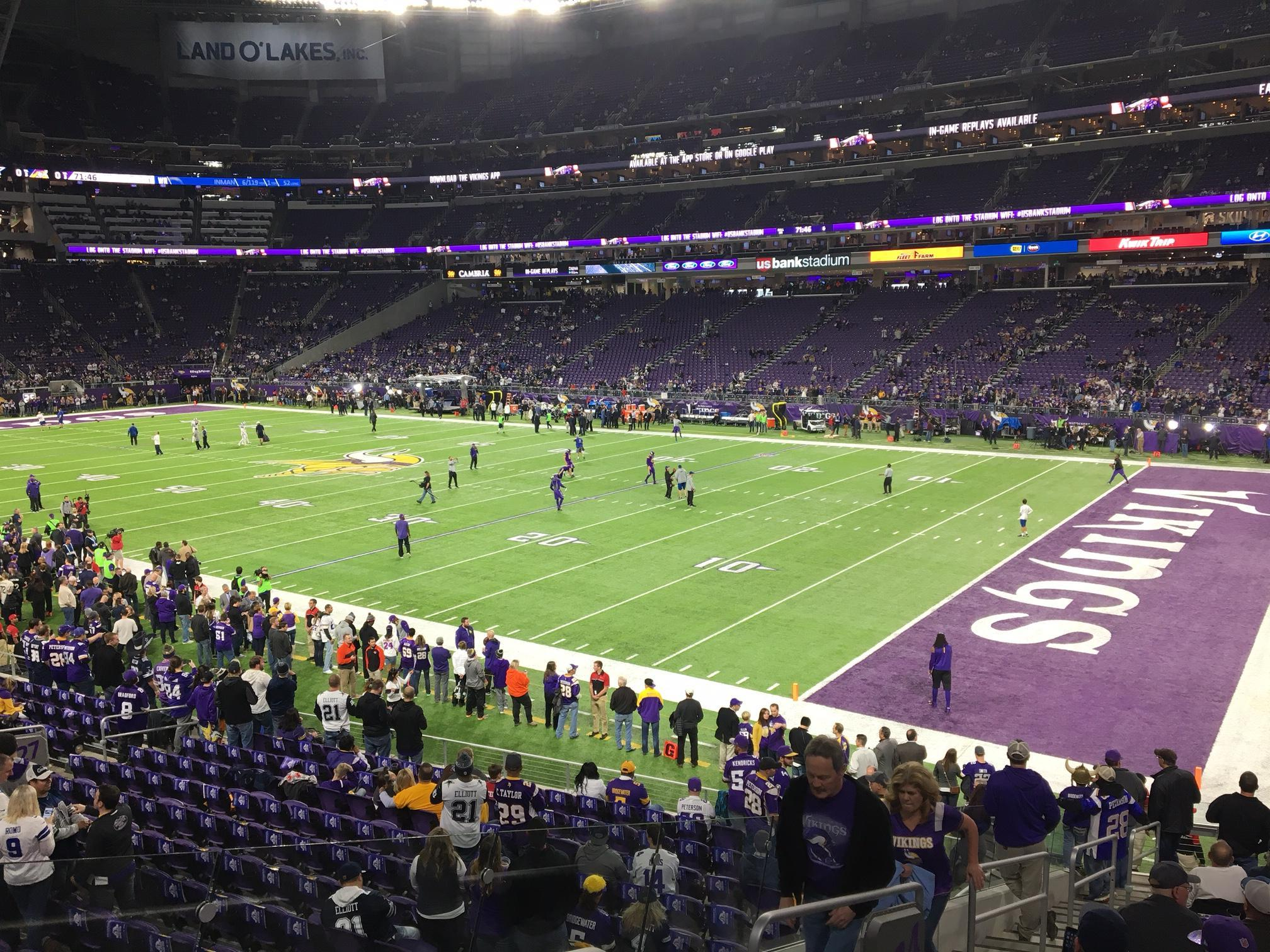 U.S. Bank Stadium Section 124 Row 19 Seat 30