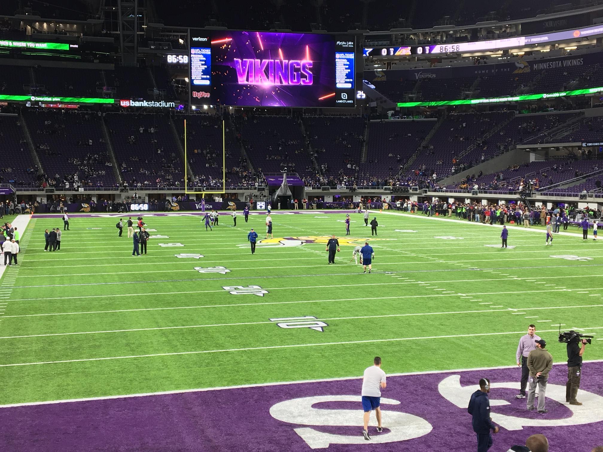 U.S. Bank Stadium Section 143 Row 8 Seat 20