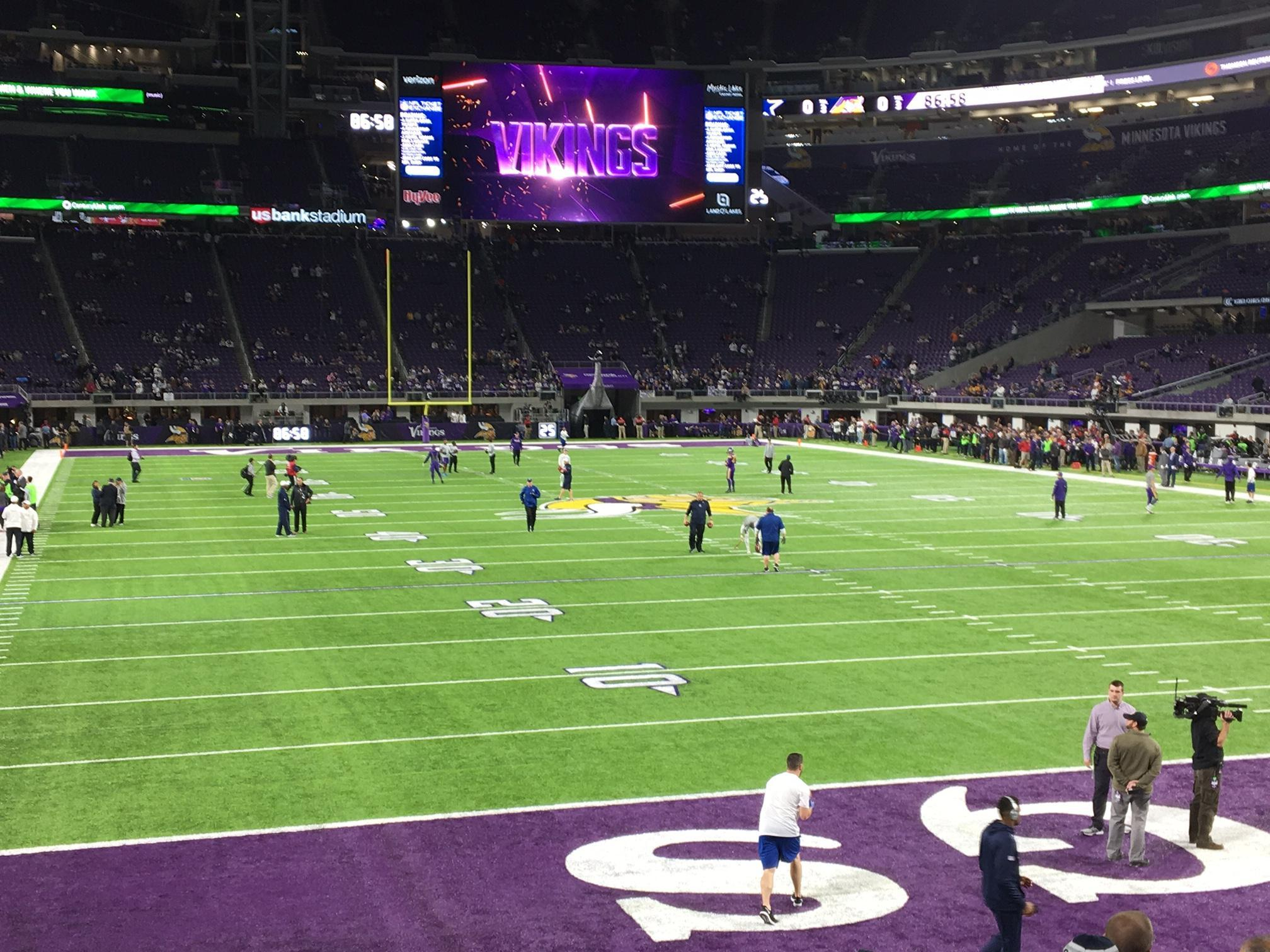 U.S. Bank Stadium Section 143 Row 11 Seat 21